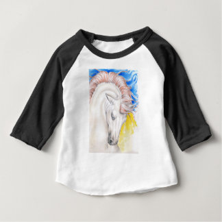 Horse Watercolor Art Baby T-Shirt