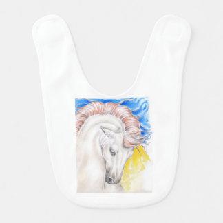 Horse Watercolor Art Bib