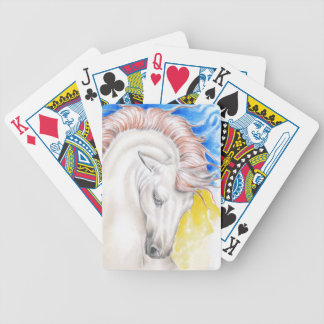 Horse Watercolor Art Bicycle Playing Cards