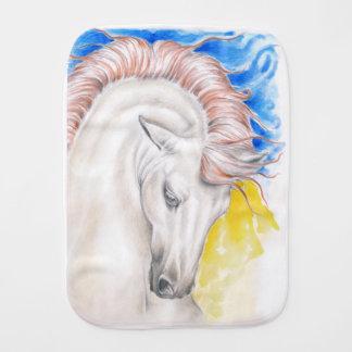 Horse Watercolor Art Burp Cloth