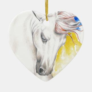 Horse Watercolor Art Ceramic Ornament