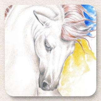 Horse Watercolor Art Coaster