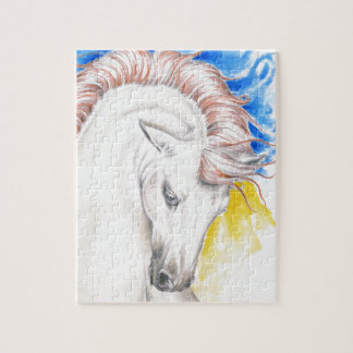 Horse Watercolor Art Jigsaw Puzzle