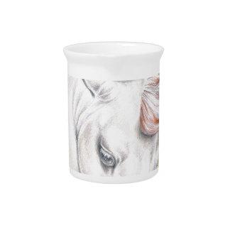 Horse Watercolor Art Pitcher