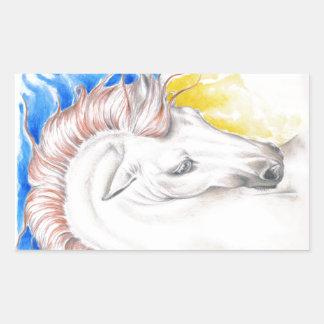 Horse Watercolor Art Sticker