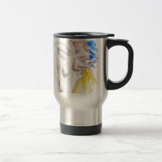 Horse Watercolor Art Travel Mug