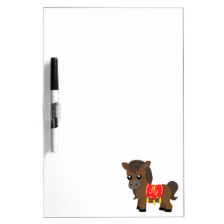 Horse Wearing Saddle Dry Erase White Board