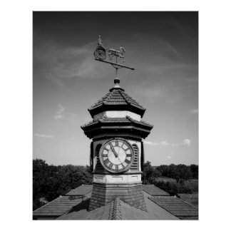 Horse Weather Vane and Clock Tower Posters