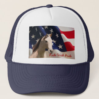 Horse With American Flag Hat