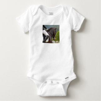Horse with Raising Baby Onesie
