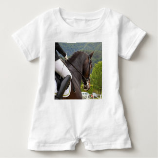 Horse with Raising Baby Romper
