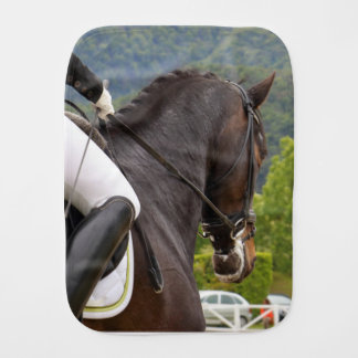 Horse with Raising Burp Cloth