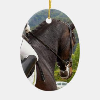 Horse with Raising Ceramic Ornament