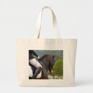 Horse with Raising Large Tote Bag