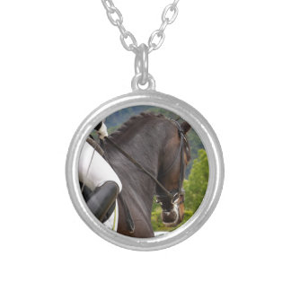 Horse with Raising Silver Plated Necklace