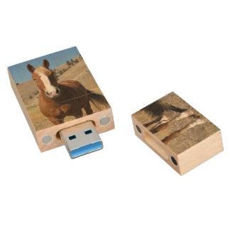 Horse Wood USB 3.0 Flash Drive