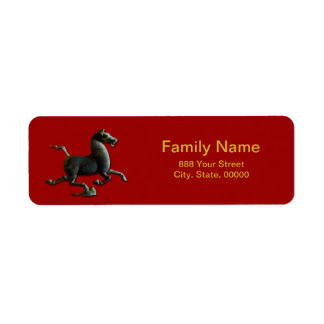 Horse Year Chinese Zodiac Return Address Label