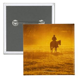 Horseback rider 24 2 inch square button