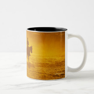 Horseback rider 24 Two-Tone coffee mug