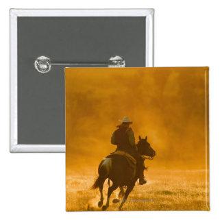 Horseback rider 3 2 inch square button
