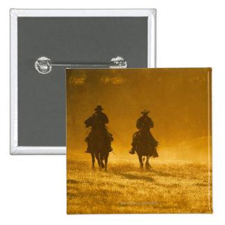 Horseback riders 3 2 inch square button