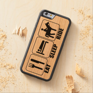Horseback Rider's (Eat Sleep Ride) a Horse Wooden Carved Cherry iPhone 6 Bumper Case