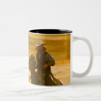 Horseback riders Two-Tone coffee mug