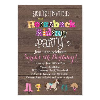 Horseback Riding Birthday Party Invitation