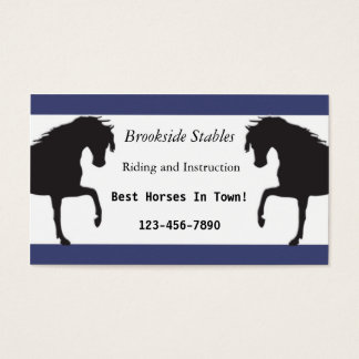 Horse riding lessons business cards and business card for Horseback riding lesson gift certificate template