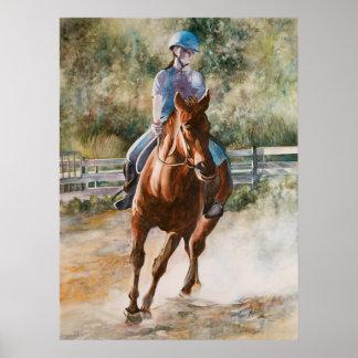 Horseback Riding Equestrian Canvas Print