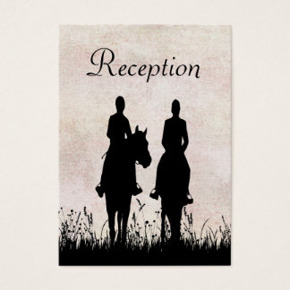 Horseback Riding Equestrian Wedding Reception Card