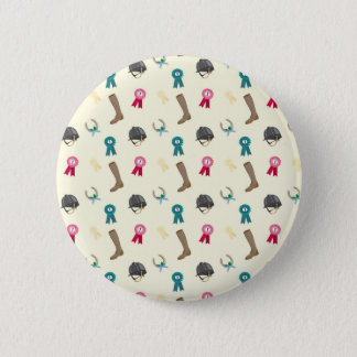 Horseback Riding in a modern style 2 Inch Round Button