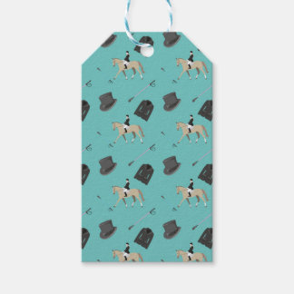 Horseback riding in a modern style gift tags