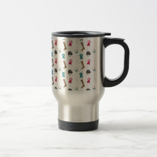 Horseback Riding in a modern style Travel Mug