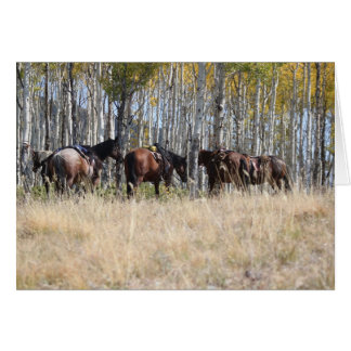 Horseback Riding in the Mountains notecards Card