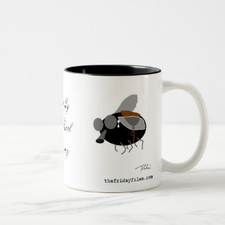 Horsefly with Pearl Earring Two-Tone Coffee Mug