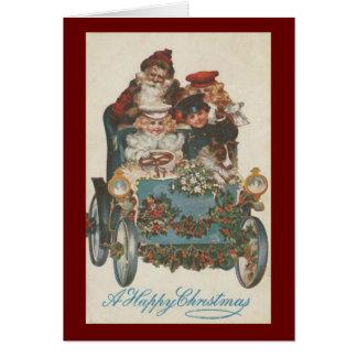 Horseless Carriage Christmas Card