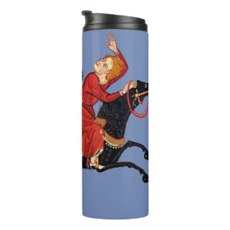 Horseman waves to his ladies thermal tumbler