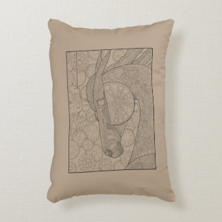 Horsepower Line Art Design Decorative Pillow
