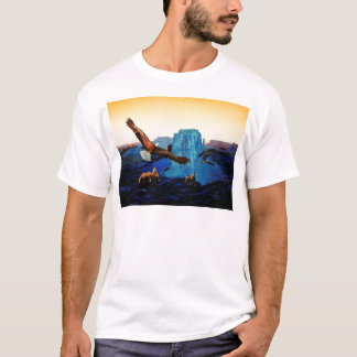 Horses and Eagles in the Grand Canyon T-Shirt