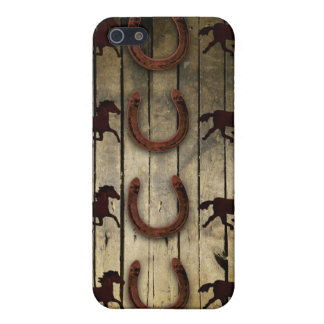 Horses and Horseshoes on Wood  backround Gifts Case For The iPhone 5