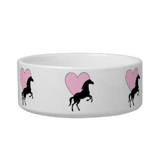 Horses and Love Pet Food Bowls