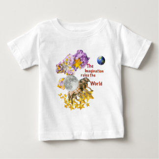 Horses are giving back the Moon to the Earth. Baby T-Shirt