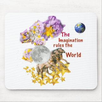 Horses are giving back the Moon to the Earth. Mouse Pad