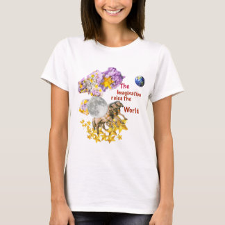 Horses are giving back the Moon to the Earth. T-Shirt