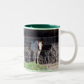 Horses are my thing!!! Two-Tone coffee mug