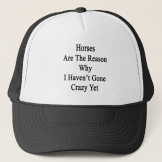 Horses Are The Reason Why I Haven't Gone Crazy Yet Trucker Hat