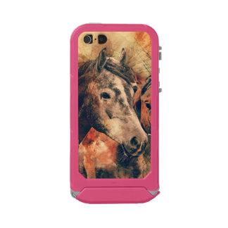 Horses Artistic Watercolor Painting Decorative Incipio ATLAS ID™ iPhone 5 Case