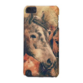 Horses Artistic Watercolor Painting Decorative iPod Touch 5G Covers