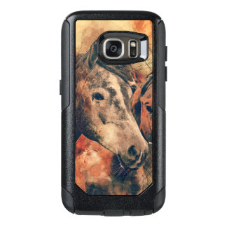 Horses Artistic Watercolor Painting Decorative OtterBox Samsung Galaxy S7 Case